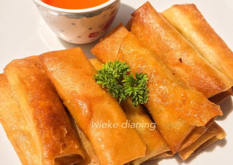 Resep Lumpia udang (Full Udang)+ resep saus dimsum
