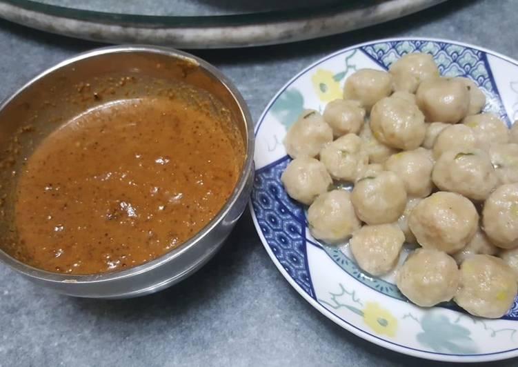 Resep Cilok saun kacang