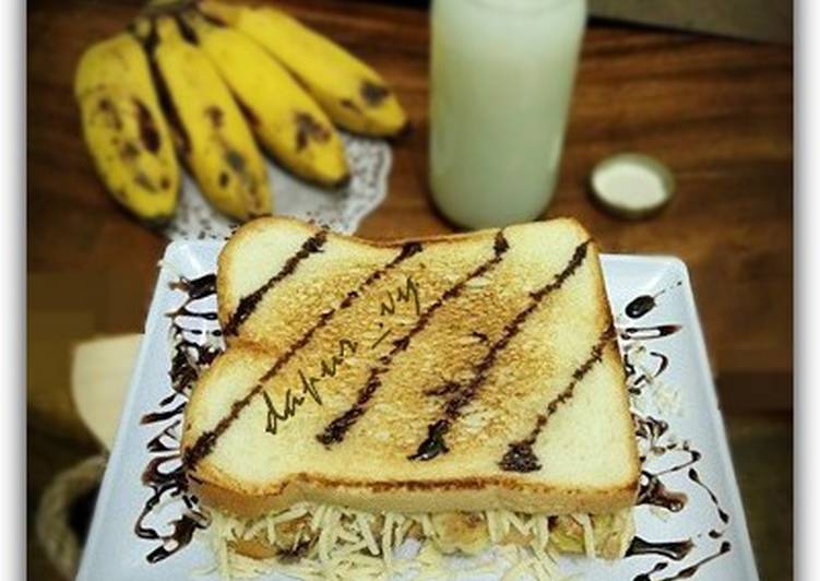 Resep Roti bakar pisang