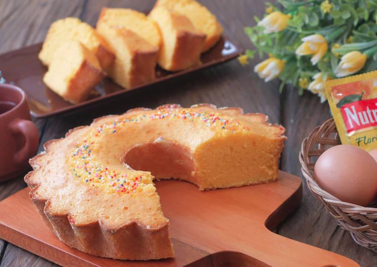 Resep Bolu Nutrijell Nutrisari rasa jeruk tanpa SP,BP dan BS