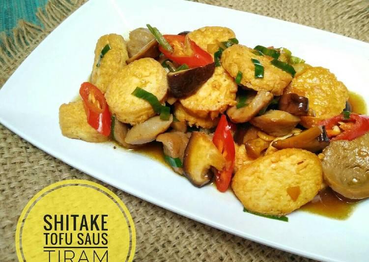 Resep Shitake tofu saus tiram