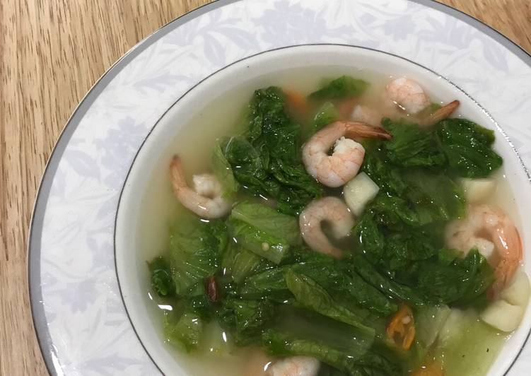 Resep Tumis kuah selada udang sederhana sehat #homemadebylita