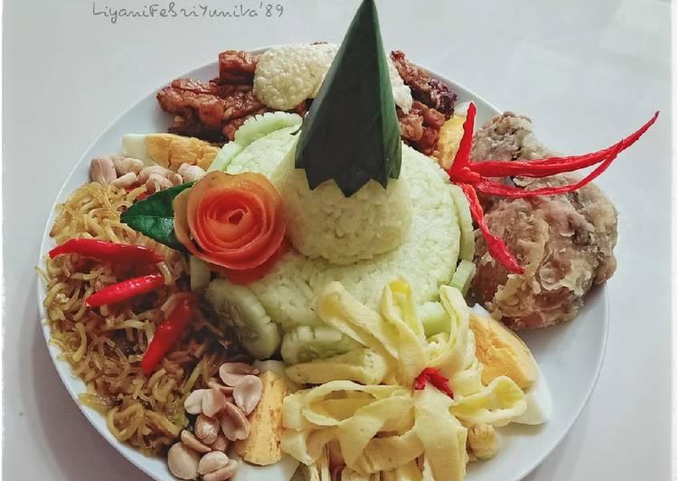 Resep Nasi tumpeng mini