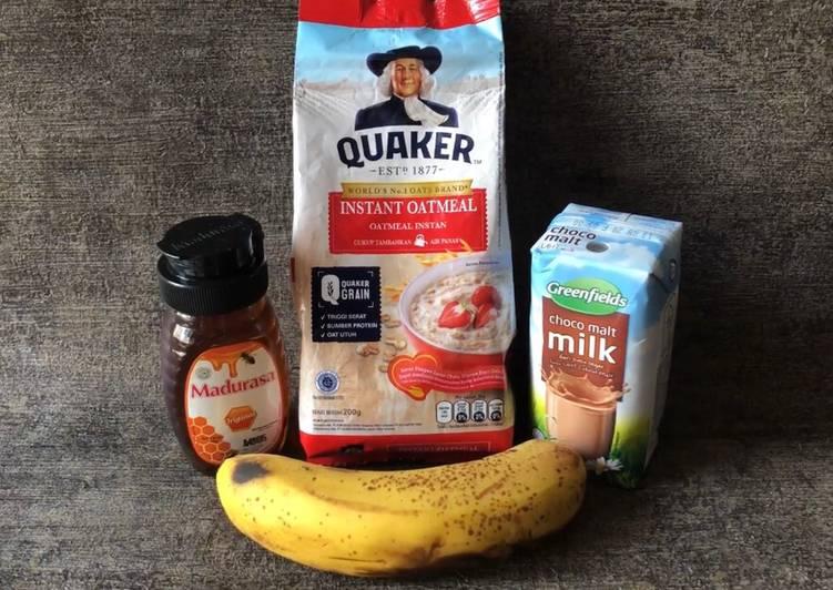 Resep Banana Choco Oats Smoothies