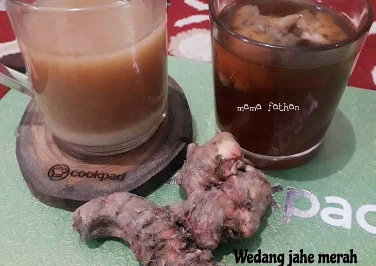 Resep Wedang jahe merah