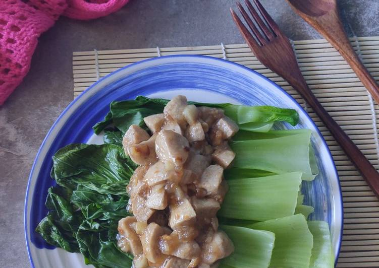 Resep Pokcoy Garlic Bakso