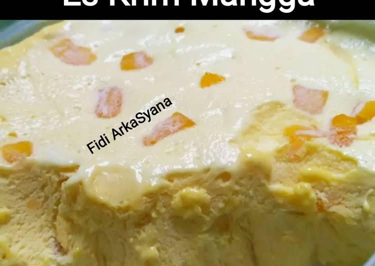 Resep Es Cream Home Made (Manggo Flavour) (W6)