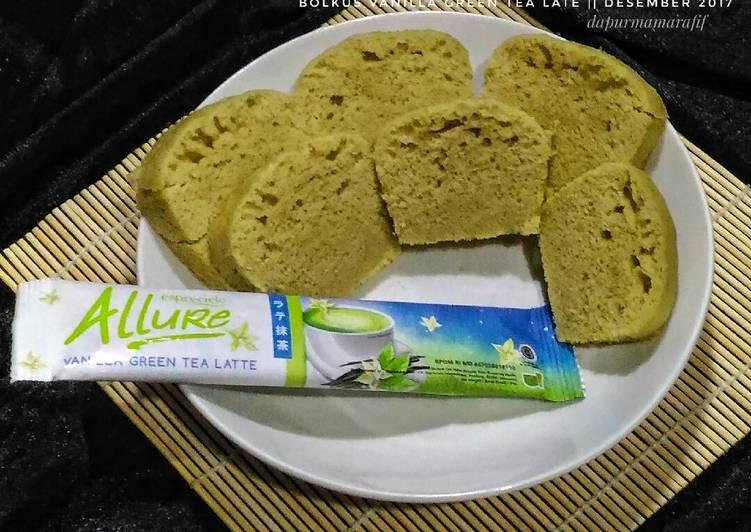 Resep Bolkus vanilla green tea latte _ kue resep ekonomis