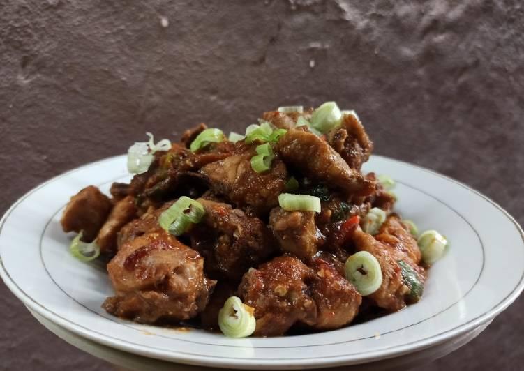 Resep Krengsengan ayam (menu diet no gula, minyak, santan, tepung)