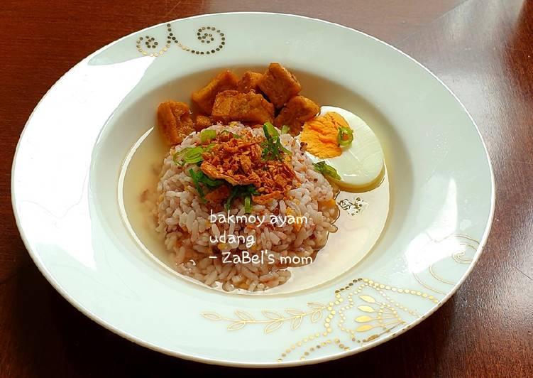 Resep Nasi Bakmoy Ayam Udang