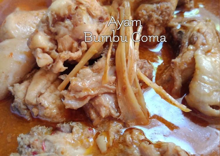 Resep Ayam bumbu *Coma