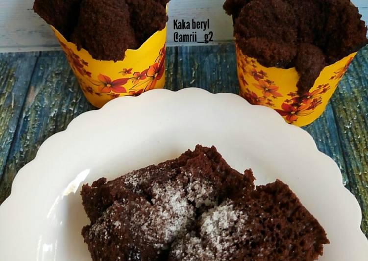 Resep Brownies kukus eggles tepung beras #Pr_ Brownies dcc