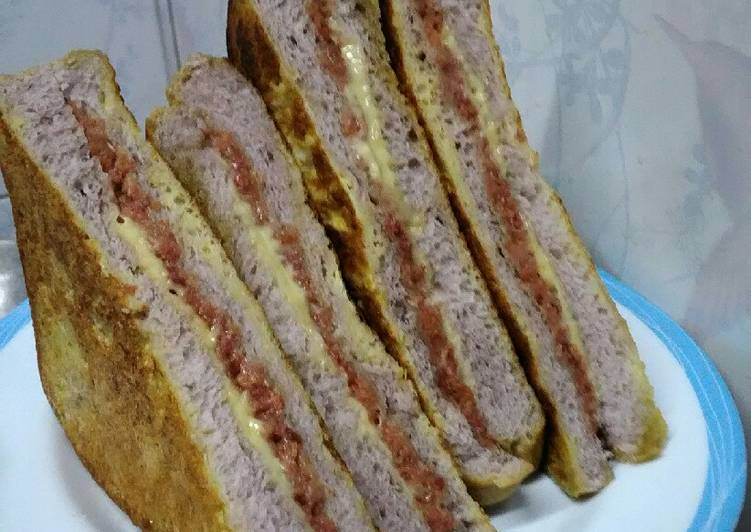Resep Sandwich Kornet Keju anti ribet