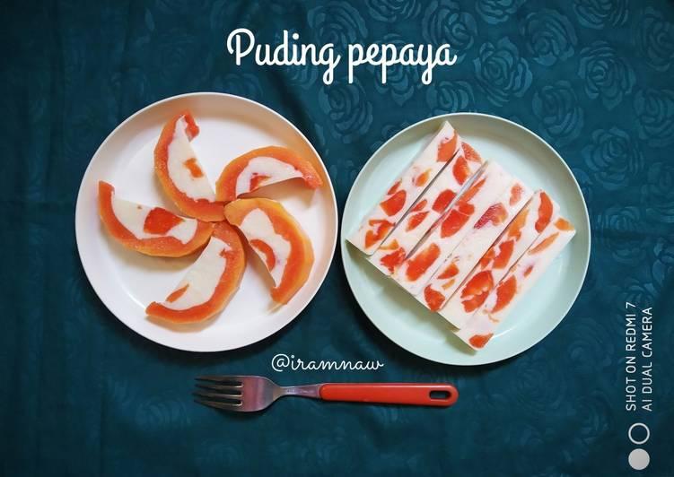 Resep Pudding pepaya
