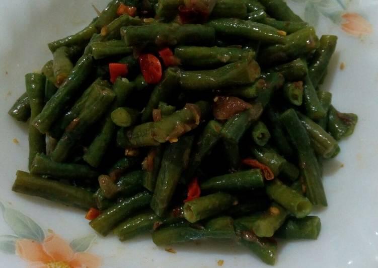 Resep #Plecing Kacang Panjang