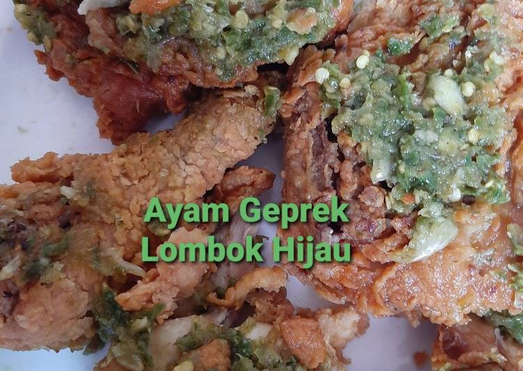 Resep Ayam Geprek Lombok Hijau