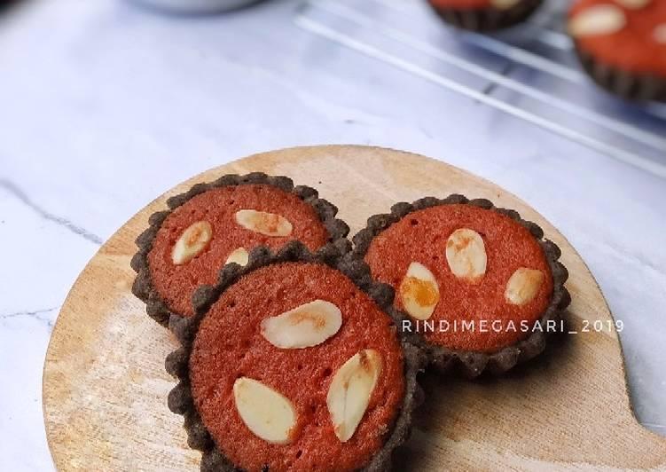 Resep 1Black Pie with Red Velvet Brownies