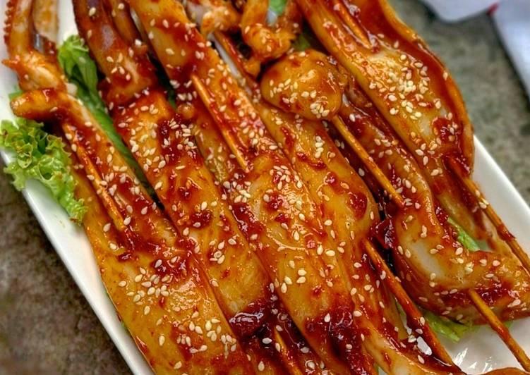 Resep Sate Sotong Pedas