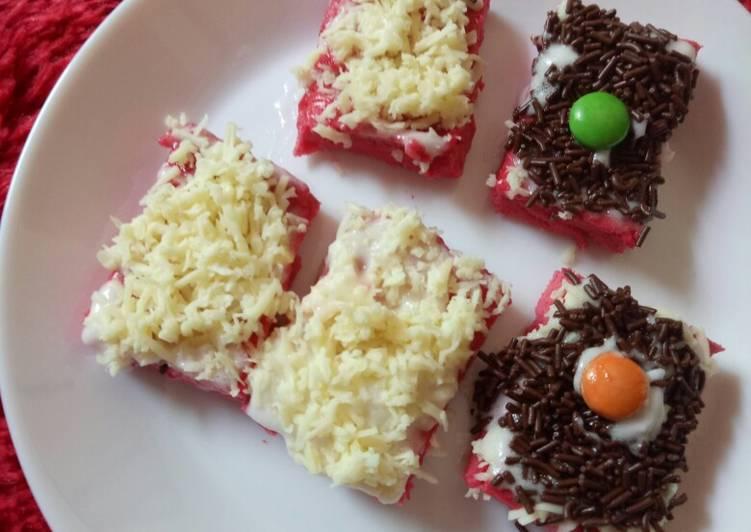 Resep Cake potong red velvet