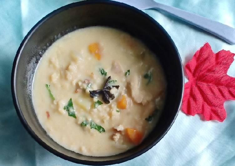 Resep Chiken oat soup