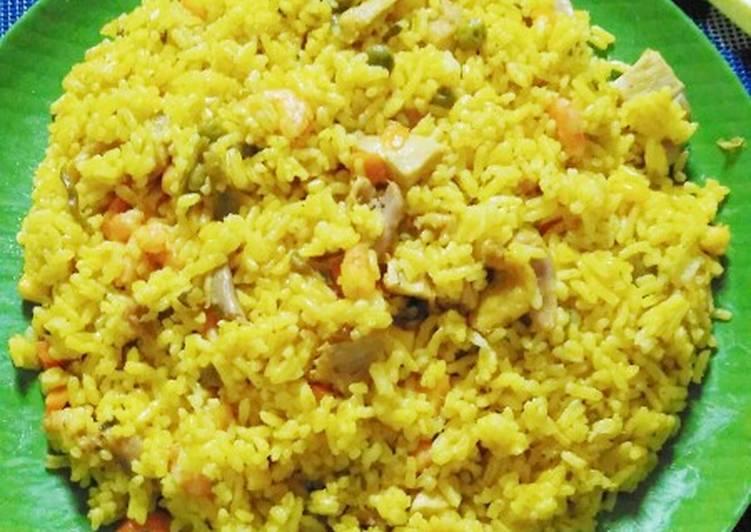 Resep Nasi Kuning Campur