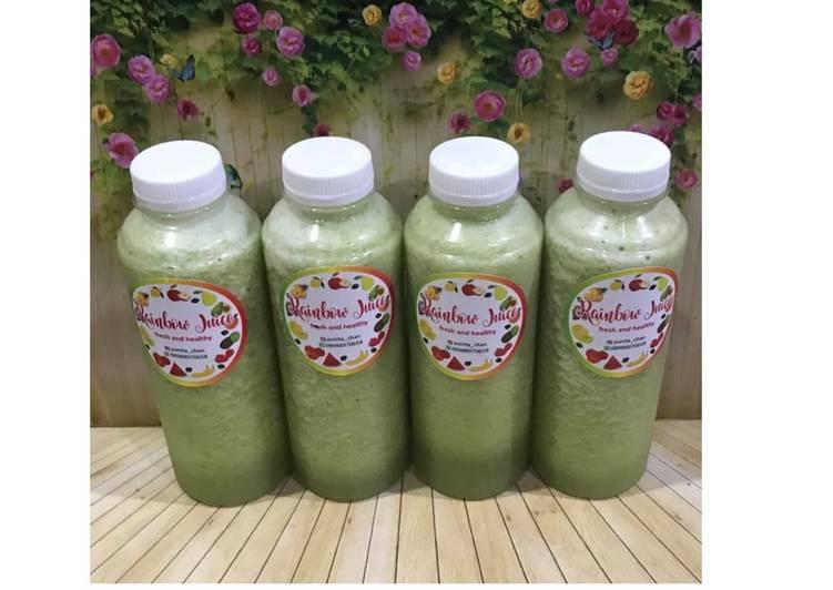 Resep Diet Juice Melon Apple Pokchoy Broccoli Soursop