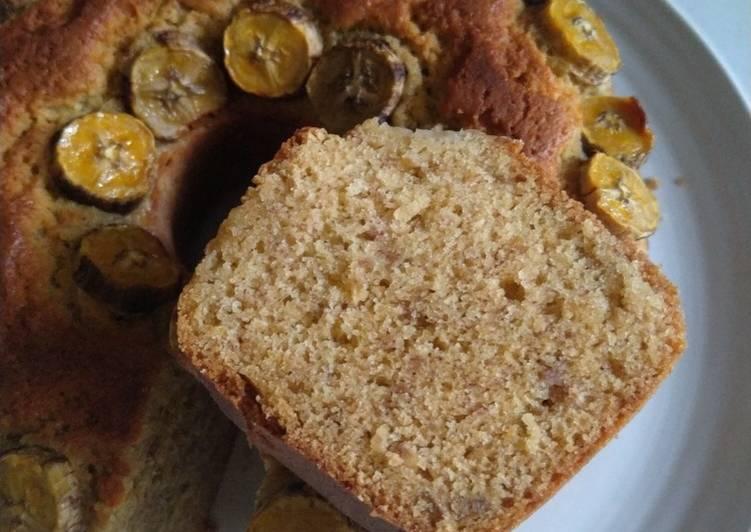 Resep Cake pisang cuma 2 telur enak moist banget