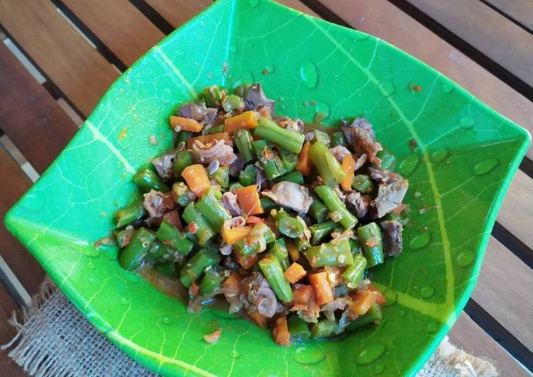 Resep Asem asem buncis, wortel dan rempelo
