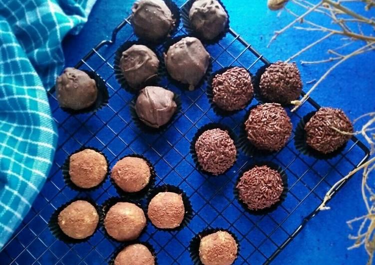 Resep TRIPLE CHOCO BALLS / Bola-bola Biskuit Coklat (#pr_olahancoklat)