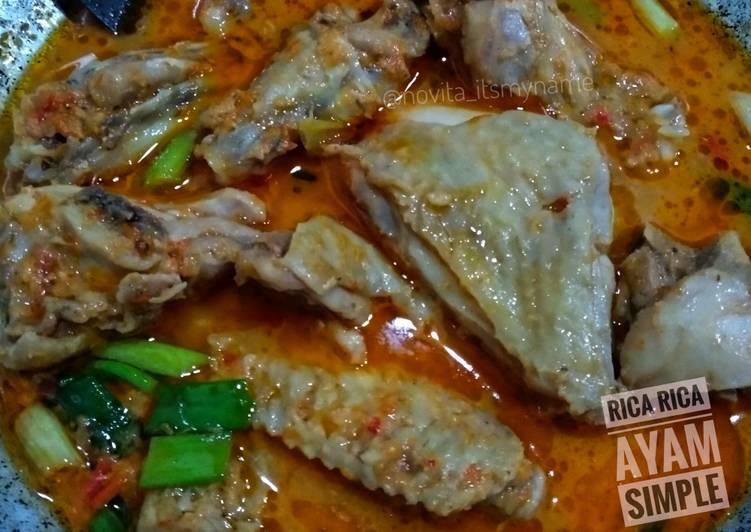 Resep Rica - Rica Ayam Simple