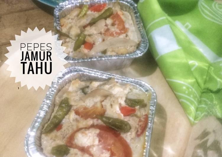 Resep Pepes Jamur Tahu