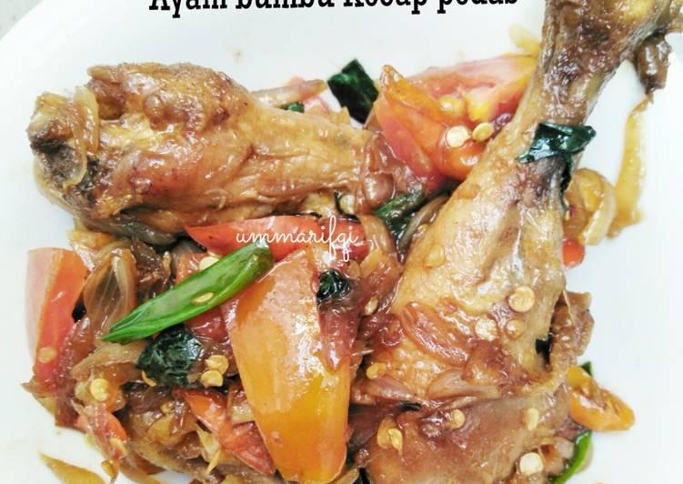 Resep Ayam bumbu kecap pedes