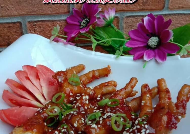 Resep Ceker pedas Korea