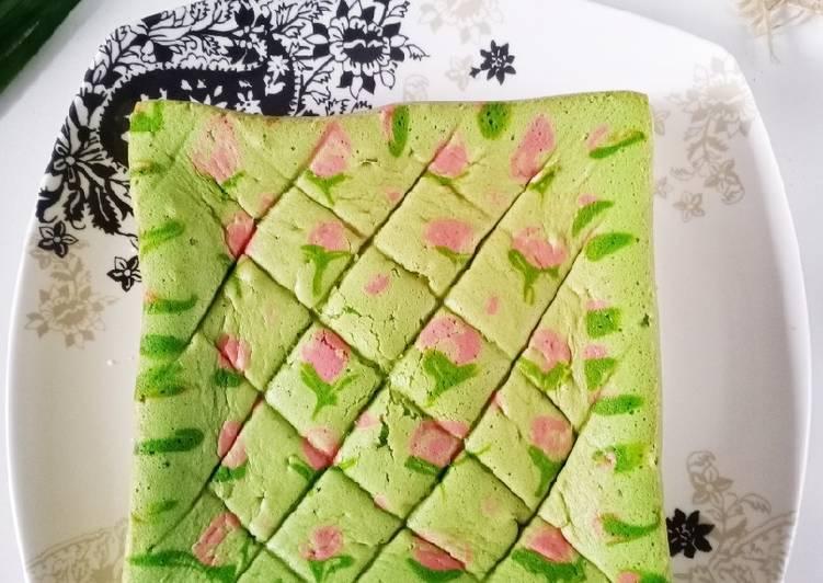 Resep Jelita cake pandan