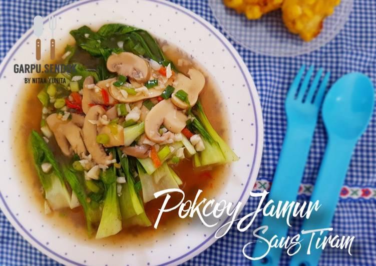 Resep Pakcoy Jamur Saus Tiram