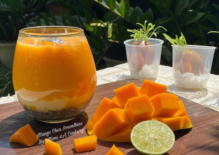 Resep Mango Chia Smoothies