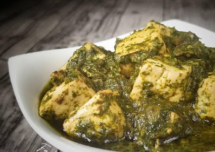 Resep Palak Tofu (Tahu Saos Bayam)