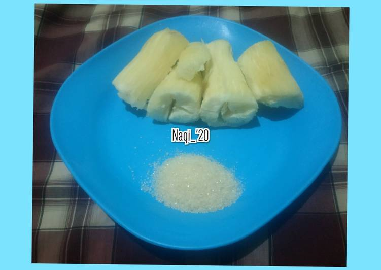 Resep 1Steamed Cassava (Singkong kukus)
