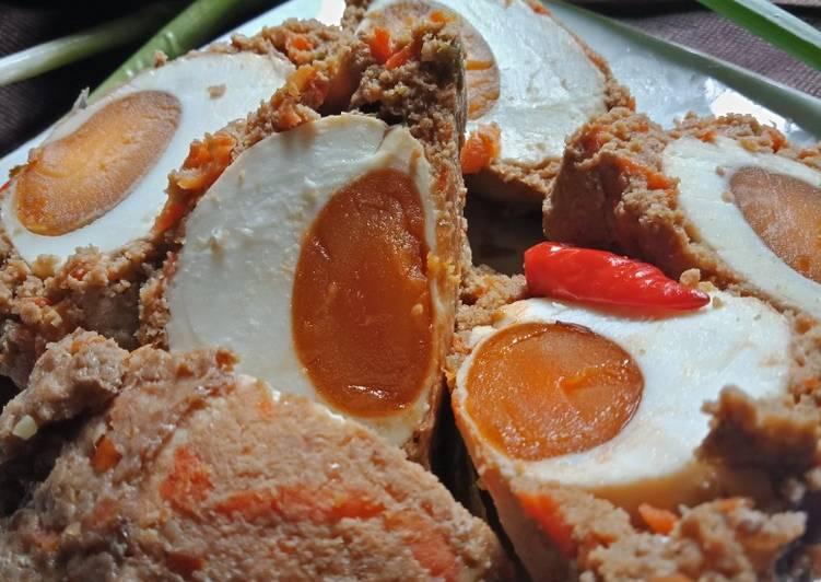 Resep Pepes daging sapi telur asin