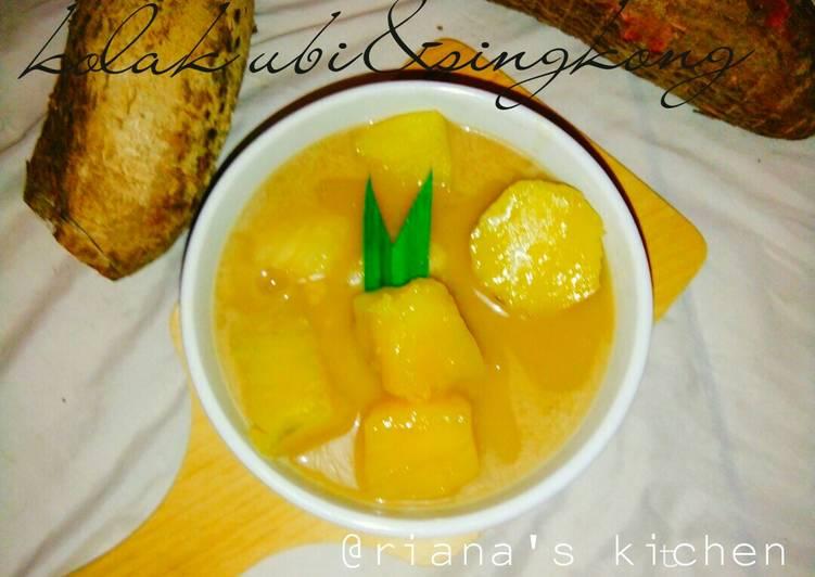 Resep #kolak singkong&ubi lezat
