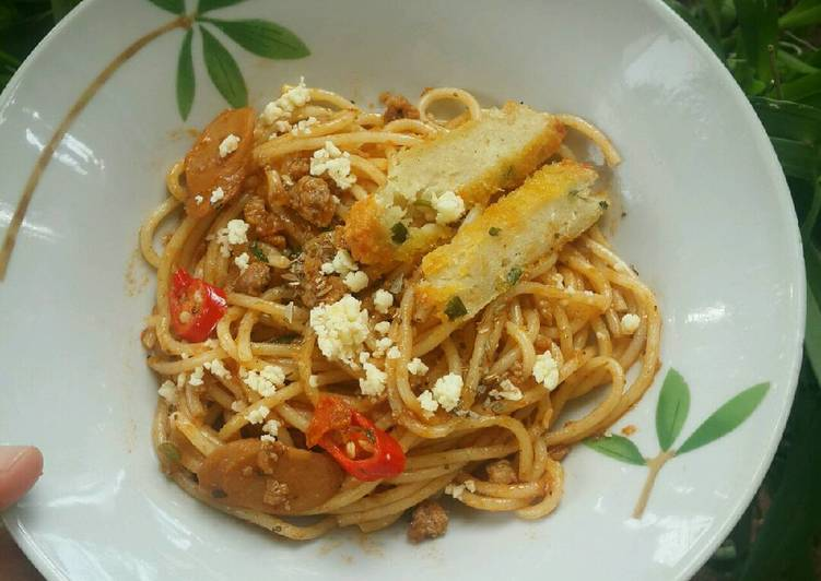Resep Spaghetti Goreng Daging Sapi ala Thia