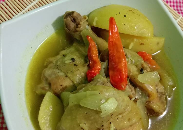 Resep Ayam Kuah Lada Hitam