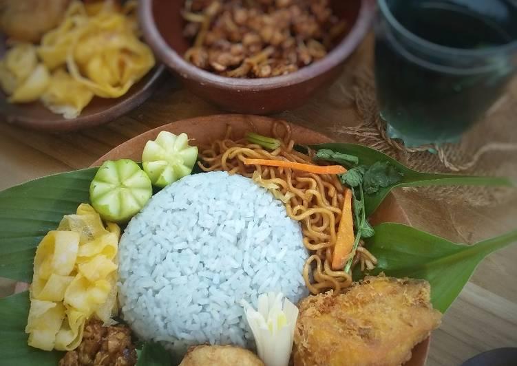 Resep Nasi gurih biru