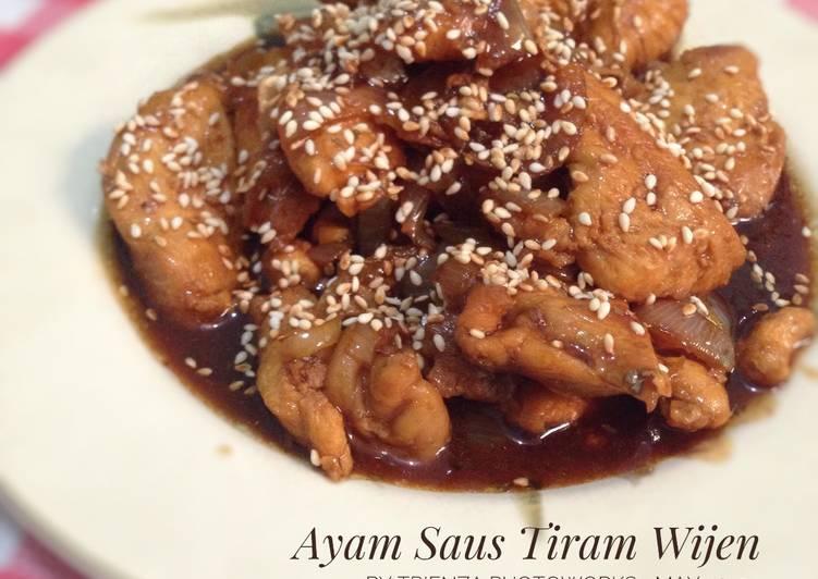 Resep Ayam Saus Tiram Wijen