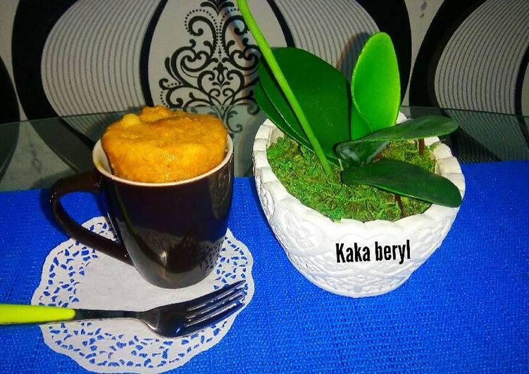 Resep Peanut butter mug cake