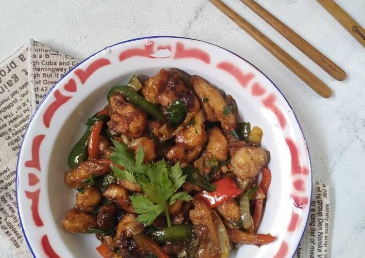 Resep Kai Yuk Jau Dim Lat Ciu (Ayam Tumis Paprika)