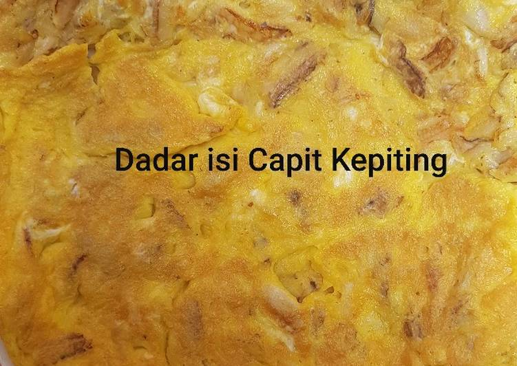 Resep Dadar Isi Capit Kepiting