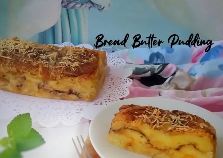 Resep Bread Butter Pudding Coklat Keju
