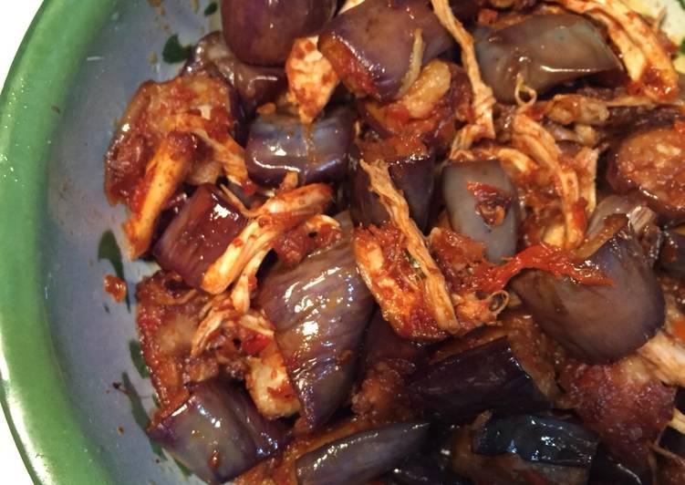 Resep Balado Terong dan Ayam Suwir