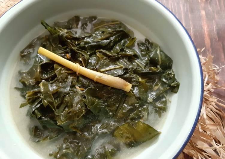 Resep Gulai daun singkong (tanpa cabe)